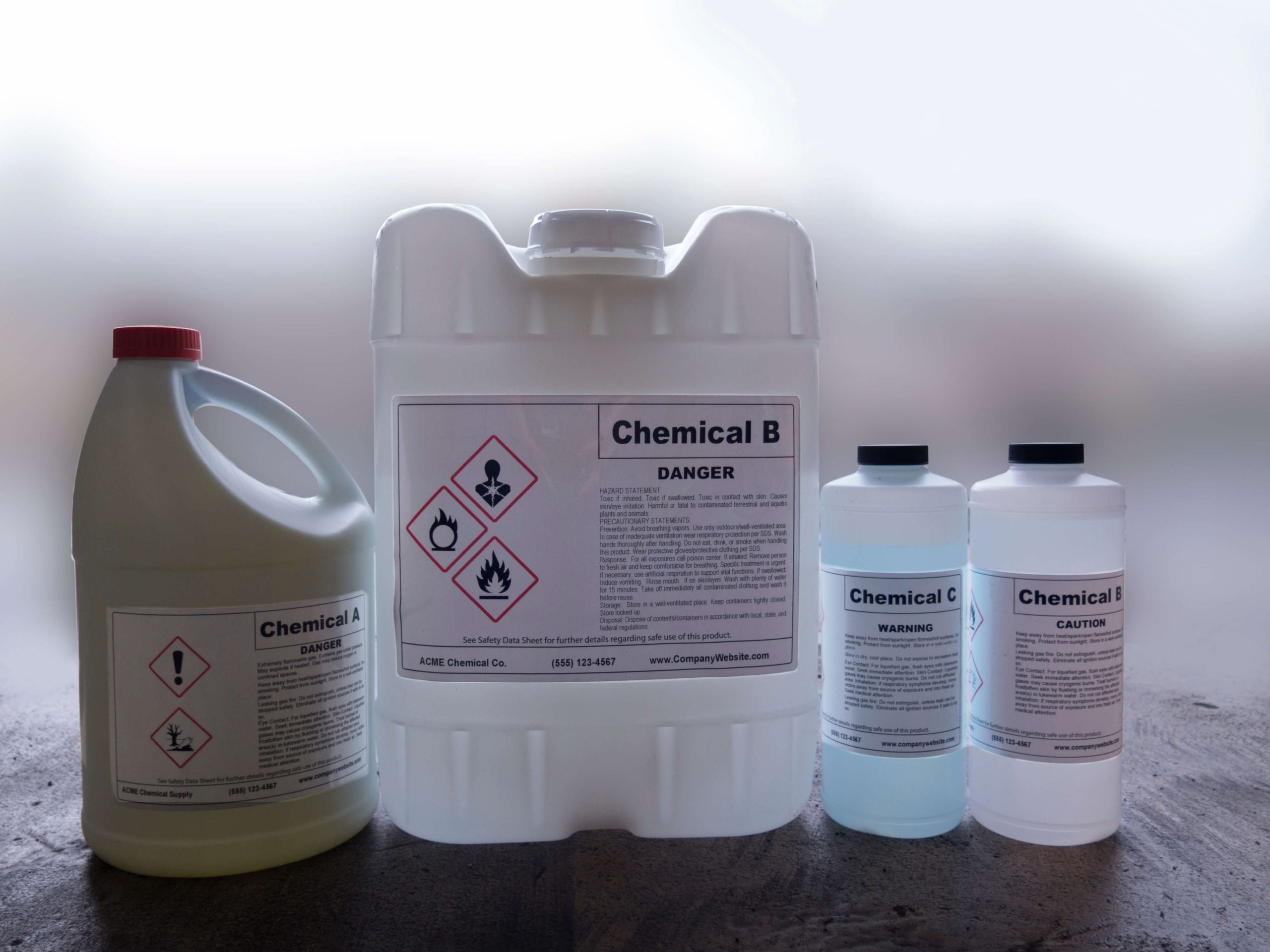 GHS Container Labels