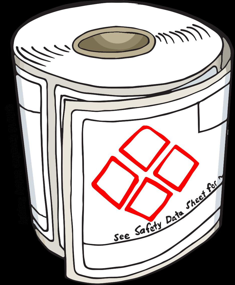 Blank GHS Safety Data Sheet Label